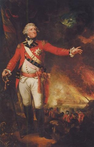 portrait of sir george augustus eliott baron heathfield by mather brown