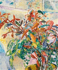 gum leaves and bush foliage by grace cossington smith