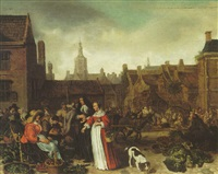 the vegetable market in the hague by sybrand van beest