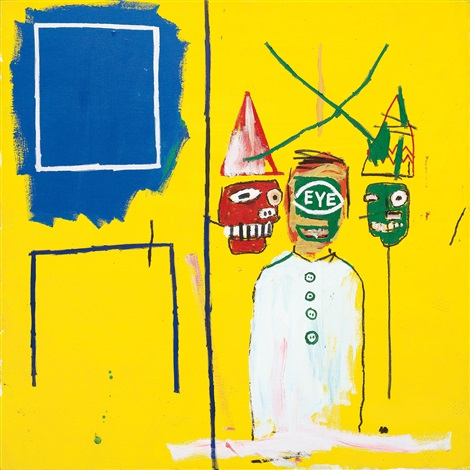three pontificators by jean michel basquiat