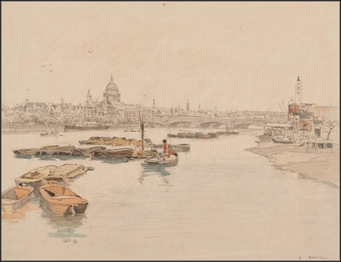 st pauls and the thames by robert eadie