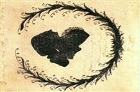 goethe nach links blickend (silhouette in liebeskranz) by johann wolfgang von goethe