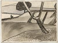 paysage à l'arbre by albert gleizes