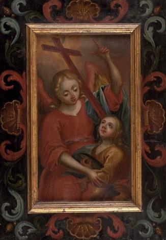 der engel raphael mit dem kleinen tobias by austrian school 17