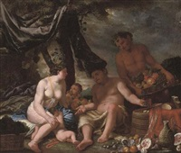 bacchus and ceres in a landscape by johann heiss