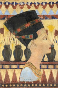 head of nefertiti by 'abd al-hadi el-gazzar