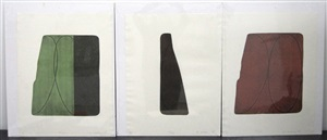 fragments (+ 2 others; 3 works) by robert mangold