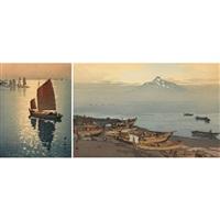 two woodblocks by hiroshi yoshida