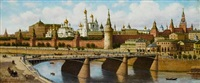 view of the kremlin from the moskvoretsky bridge by petr petrovich vereshchagin