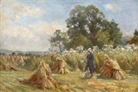 harvesting glenfinlas, trossachs by robert payton reid
