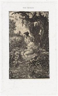 deux baigneuses au bord de l'eau (from la revue fantaiste) by rodolphe bresdin