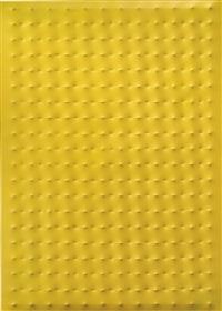 superficie gialla no. 2 by enrico castellani