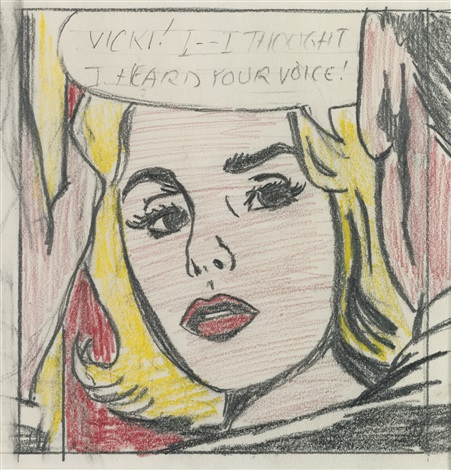 Vicki i i thought i heard your voice study by roy lichtenstein vicki i i thought i heard your voice study by roy voltagebd Images