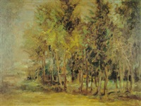 houses among trees by aharon avni