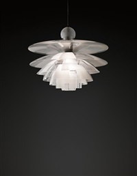 early and large septima ceiling light, type 5 by poul henningsen
