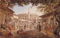 bazaar, athens by edward dodwell