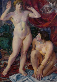 two female figures (venus) by ignati ignatevich nivinsky