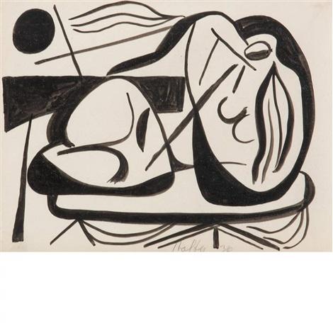 reclining figure by carl robert holty