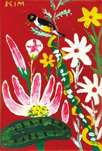 bird and flowers by kim chong-hak