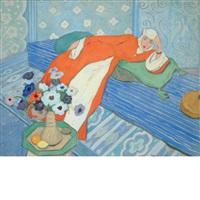 woman in repose by joseph bolegard