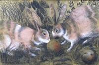 les lapins by georges manzana-pissarro