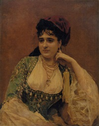portrait of charles zimmerman and edouard dubufe's wife by edouard-marie-guillaume dubufe