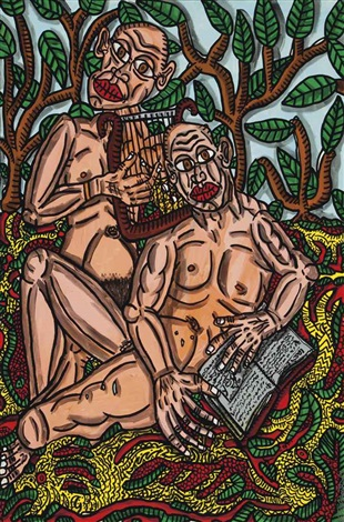 adam et eve by robert combas