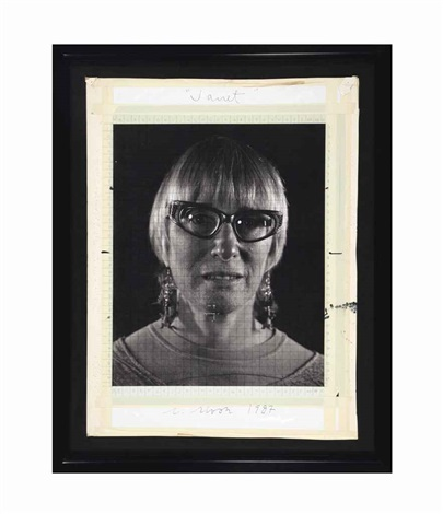 janet maquette by chuck close