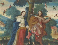 the holy family by peruvian school-cuzco (19)