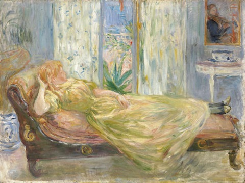 Sur la chaise longue by berthe morisot on artnet for Lampadaire la chaise longue