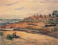 la pointe du canon, bassin d'arcachon by rené joseph arar