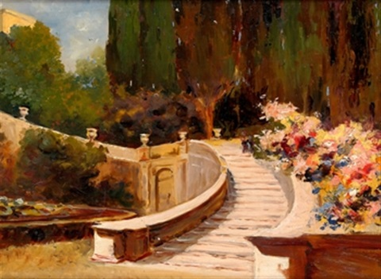 escalinata florida, italia by joaquin sorolla y bastida