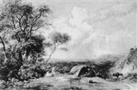 an encampment on a hill by joseph william allen