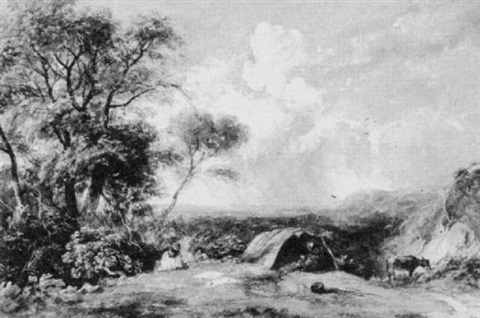 an encampment on a hill by joseph william allen