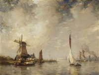 a busy dutch estuary by james campbell noble