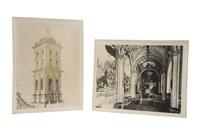 vistas exteriores e interiores de iglesias y edificios (16 works) by guillermo kahlo