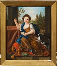 portrait de mademoiselle de tours by pierre mignard