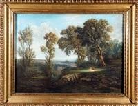 paysage au troupeau by ch. dannet