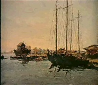 les voiliers a quai by nicolay andretsov