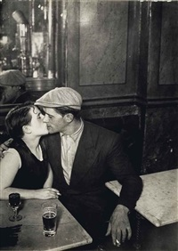 la dispute, couple s'embrassant dans un bistrot, rue st. denis, c. 1931 by brassaï