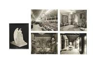 cinco fotografías de interiores, dos de una escultura de adolfo ponzanelli y catorce de fábricas, tales como la compañía de seguros y ford motor (21 works) by guillermo kahlo
