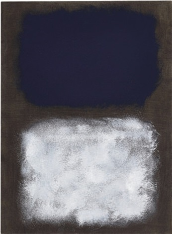 black white blue by mark rothko