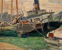 low tide, baie st. paul by frederick william hutchison