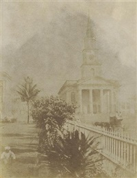 st. andrew's church, dalhousie square (+ another view in calcutta; 2 works) by frederick fiebig