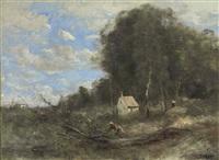 le cottage de boucherons by jean-baptiste-camille corot