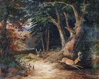 daims dans la forêt by newton (smith limbird) fielding