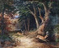 daims dans la forêt by newton (smith limbird) fielding