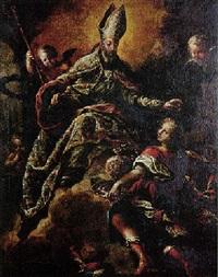 saint augustin en apothéose by isidro rodriguez de ribera