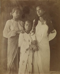 three cingalese girls by julia margaret cameron