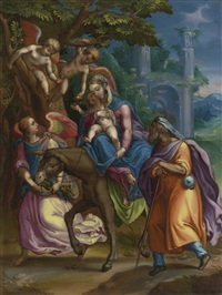 the flight into egypt by anonymous-flemish (17)